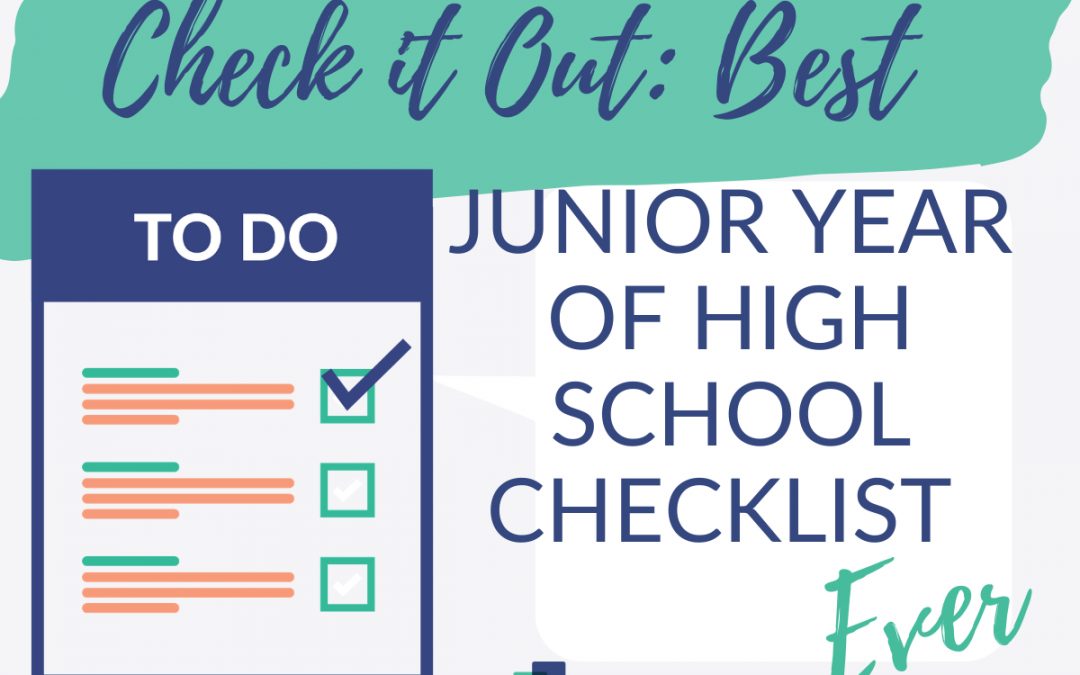 Best junior year of high school checklist